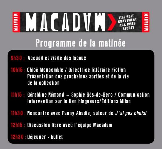 journée macadam 11